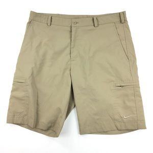 Nike Golf Shorts Dri-Fit Khaki Size 34